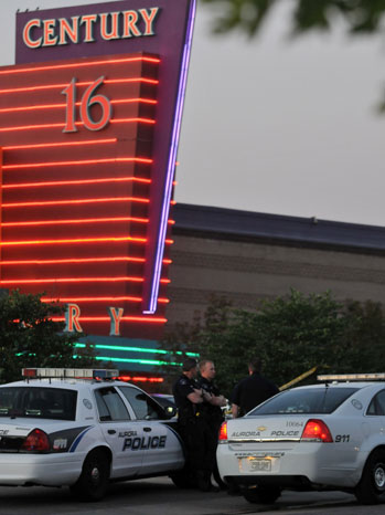 Dark Knight Shooting Police Theater Exterior - P 2012