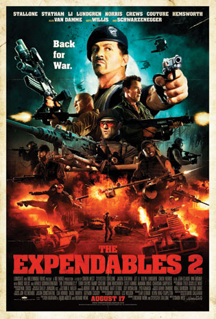 2012-26 FEA Batman The Expendables Poster P