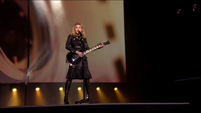 Madonna Paris Live Screen Grab - H 2012