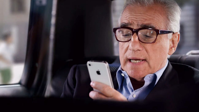 Martin Scorsese iphone Commercial - H 2012