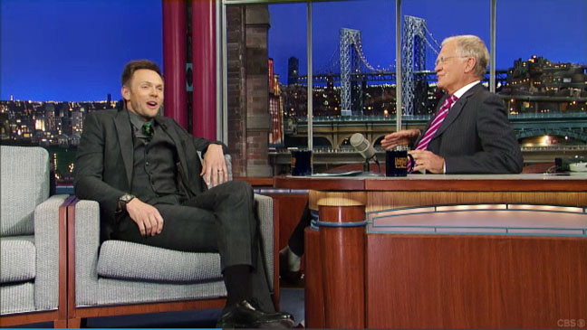 Joel McHale on David Letterman - H 2012