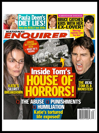 National Enquirer Tom Cruise Katie Holmes - P 2012