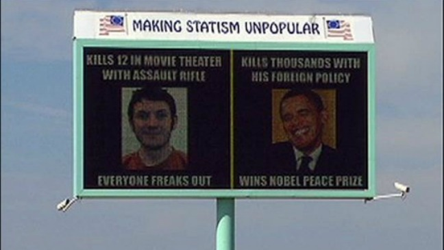 Obama Holmes Controversial Billboard - 2012 H