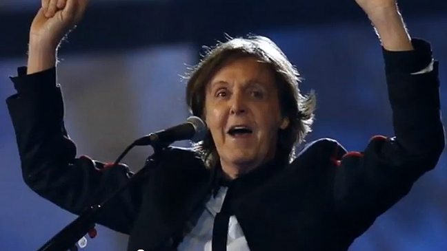 Paul McCartney Olympics 2012 screen grab L