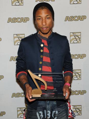 Pharrell Williams ASCAP rhythm and soul awards 2012 P