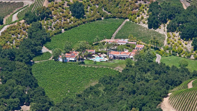 Rosenthal Wine Estate Aerial View - H 2012