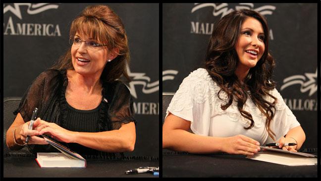 Sarah Palin Bristol Palin Book Signing Split - H 2012