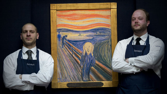 Sotheby's The Scream Painting - H 2012