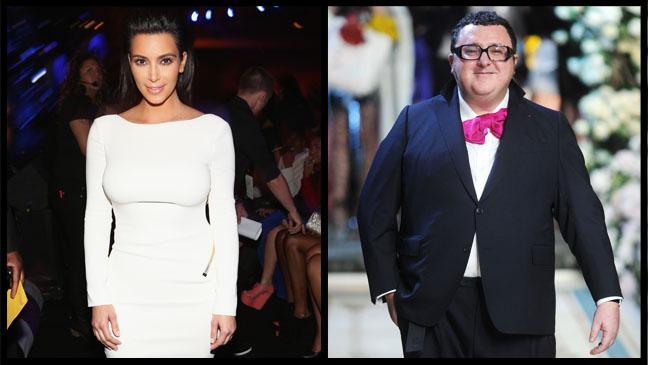 Alber Elbaz Kim Kardashian Split - H 2012