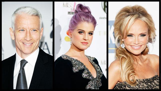 Anderson Cooper Kristin Chenoweth Kelly Osbourne - H 2012