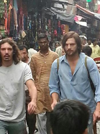 Ashton Kutcher Filming India - P 2012