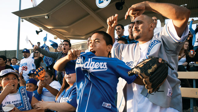 2012-28 FEA Dodgers Fans in the Stands H