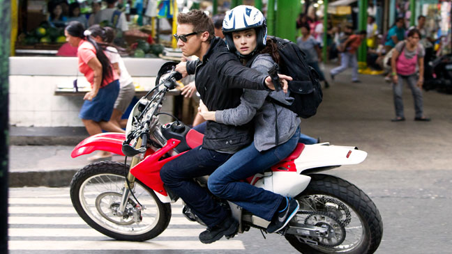 The Bourne Legacy Renner Weisz on Motorcycle - H 2012