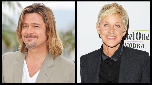 Brad Pitt Ellen DeGeneres Split - H 2012