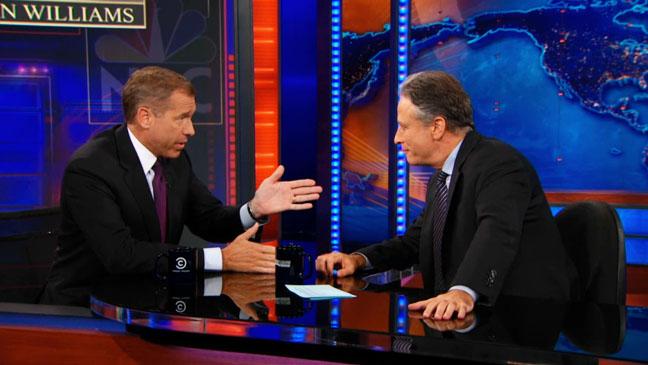 The Daily Show Brian Williams Screengrab - H 2012