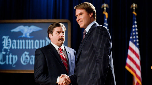 The Campaign Galifianakis Ferrell Shaking Hands - H 2012