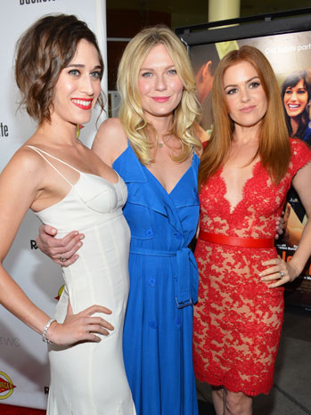 Bachelorette Premiere Isla Fisher Kirsten Dunst Lizzy Caplan - P 2012