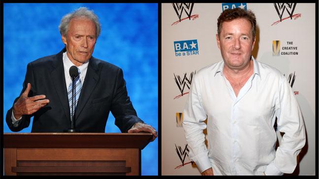 Clint Eastwood Piers Morgan Split - H 2012
