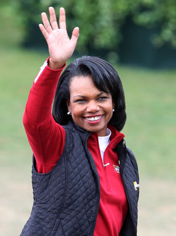 The Presidents Cup - Final Round Condoleezza Rice - P 2012