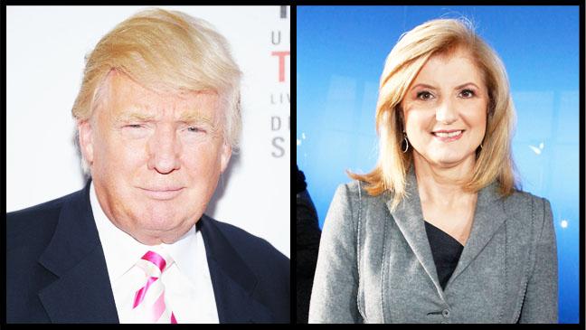 Donald Trump Arianna Huffington Split - H 2012