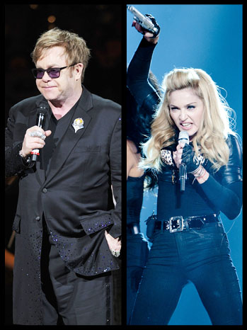 Elton John Madonna Split - P 2012