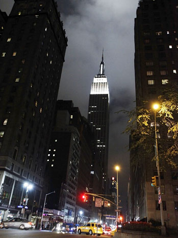 Empire State Building at night - P 2012
