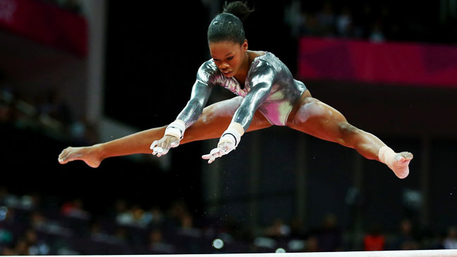 Gabby Douglas Artistic Gymnastics Uneven Bars final - H 2012