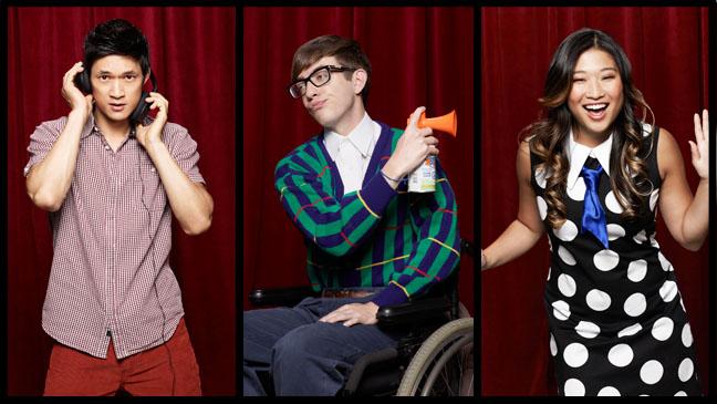 Glee Harry Shum Jr., Jenna Ushkowitz Kevin McHale Split - H 2012