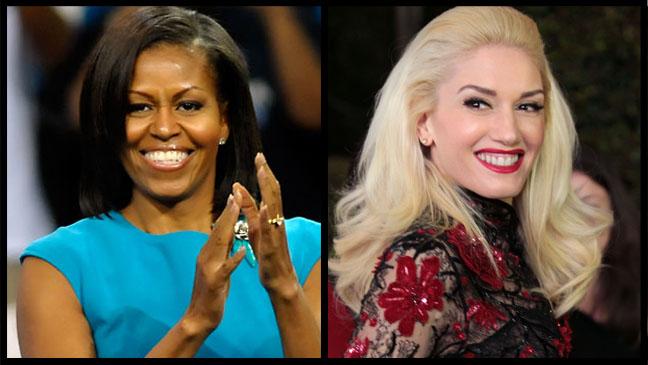 Michelle Obama Gwen Stefani Split - H 2012