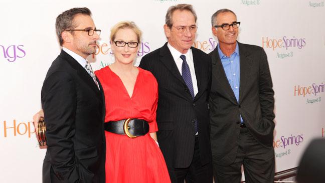 Hope Springs Premiere Jones Streep Carell - H 2012