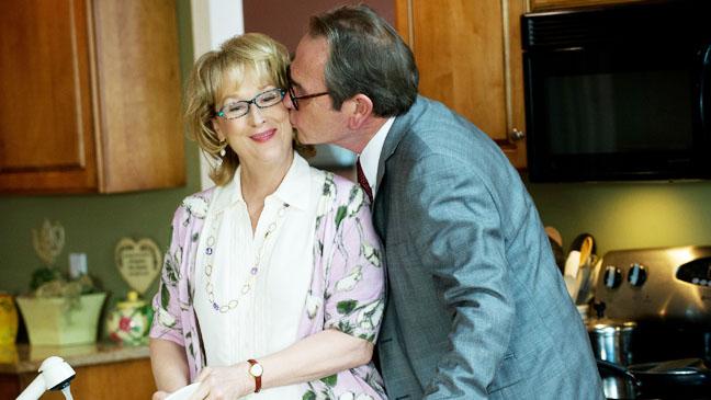 Hope Springs Jones Kissing Streep on Cheek - H 2012