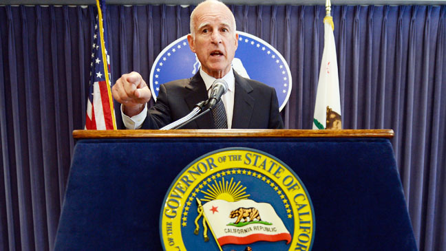 Jerry Brown News Conference On Pension - H 2012