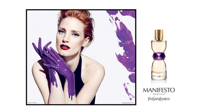 Jessica Chastain YSL Manifesto Perfume Ad - H 2012
