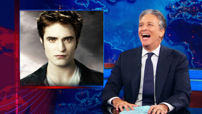 Jon Stewart Edward Cullen Screengrab - H 2012
