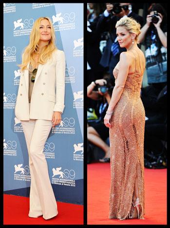 Kate Hudson Venice Film Festival Red Carpet Split - P 2012
