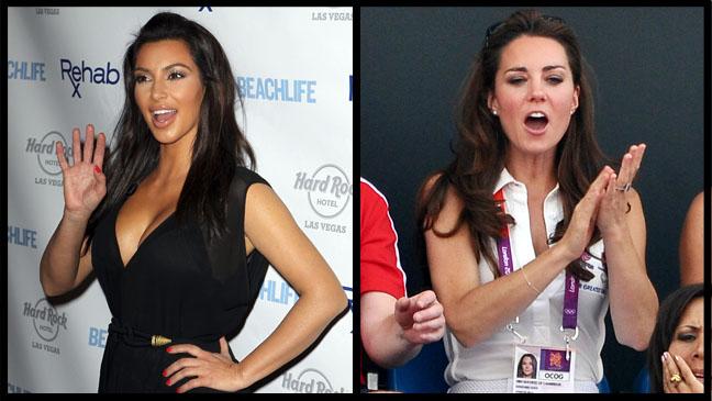 Kim Kardashian Kate Middleton - H 2012