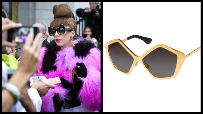 Lady Gaga Sunglasses Trend Split - H 2012