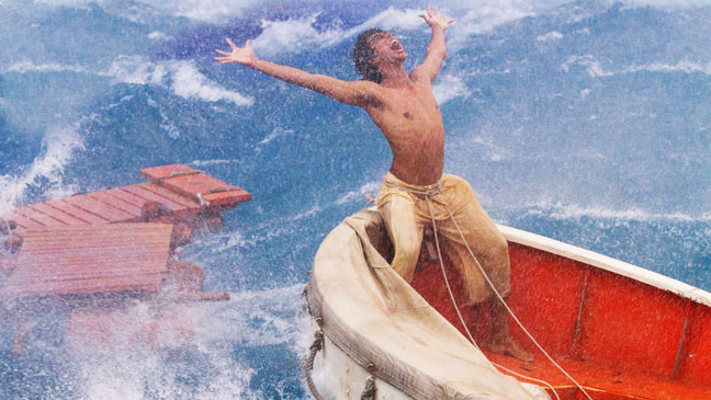 Life of Pi Yelling in Sea Storm - H 2012