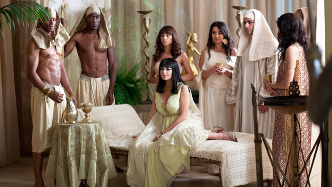Liz & Dick Lohan on set of Cleopatra - H 2012