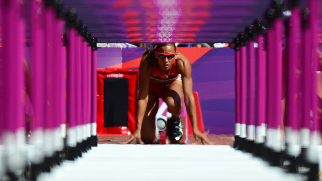 Lolo Jones Hurdles Olympics - H 2012