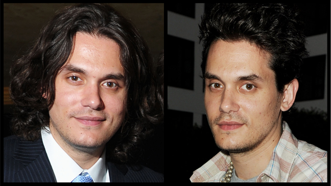 John Mayer New Haircut Before and After - H 2012