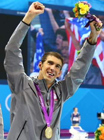 Summer Olympics Michael Phelps Relay 19th Medal - P 2012