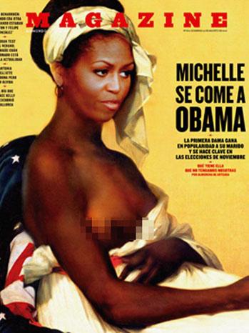 Michelle Obama Magazine Fuera de Serie Topless - P 2012