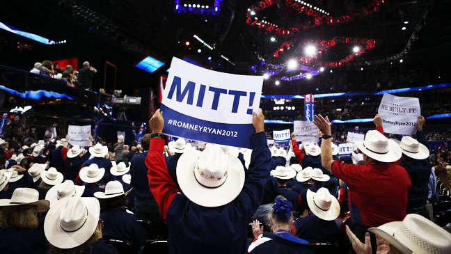 Republican National Convention Romney Supporters - H 2012