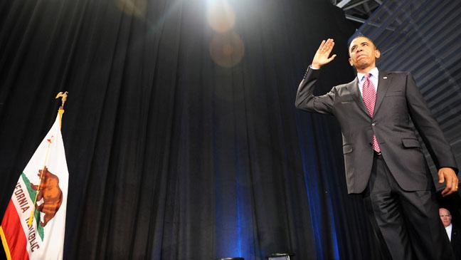 Barack Obama Fundraising California - H 2012