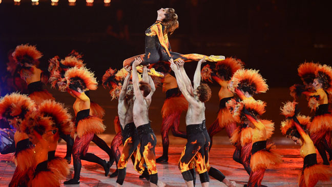 Olympic Closing Ceremony Fire Dancers 2 - H 2012