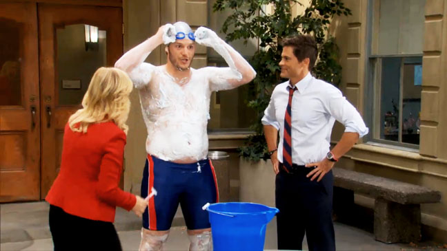 Parks and Recreation Andy the Swimmer Screengrab - H 2012