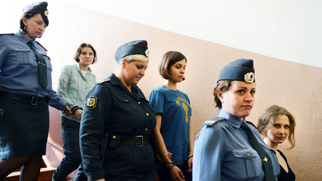Pussy Riot incarcerated - H 2012