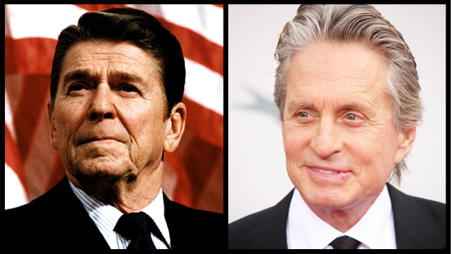 Ronald Reagan Michael Douglas Split - H 2012