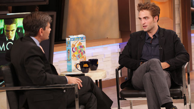 Robert Pattinson Good Morning America interview - H 2012